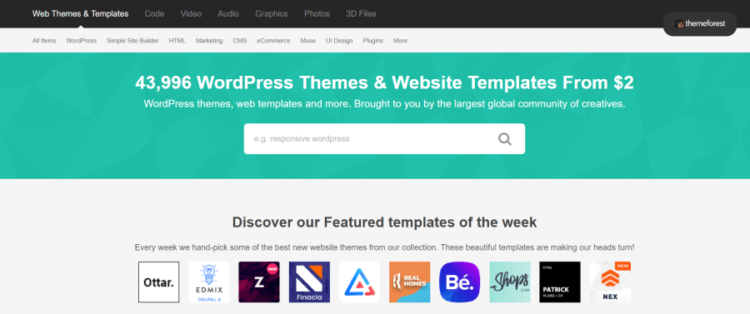 WordPress šablóny na Themeforest
